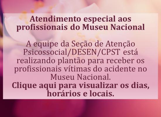 Atendimento Psicossocial aos Servidores do Museu Nacional